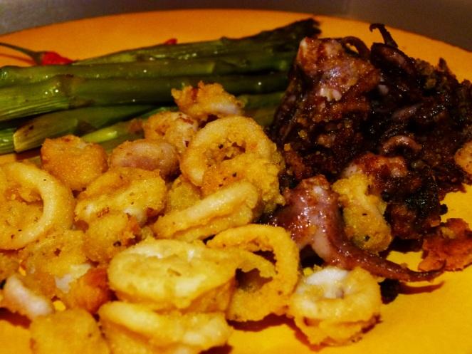 Calamari & Asparagus